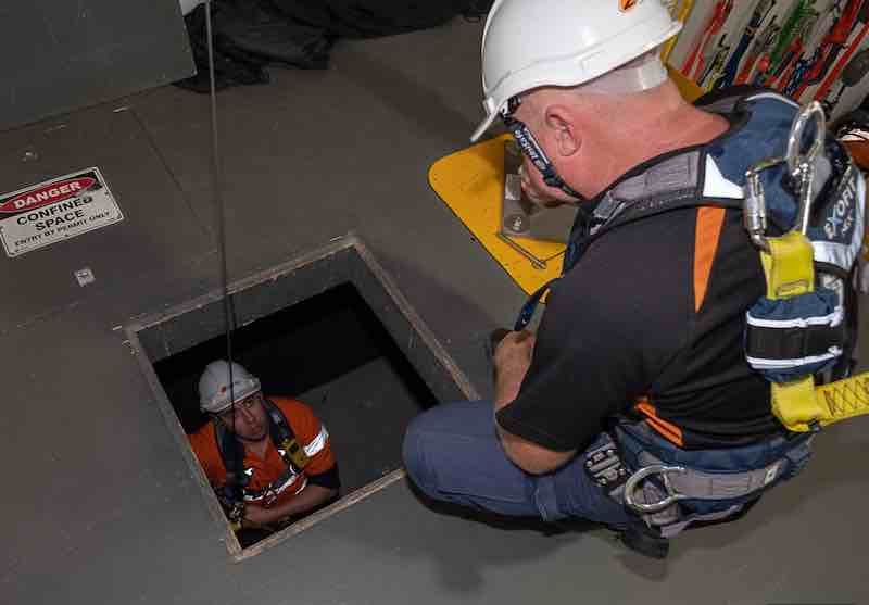 A confined space standby is essential for safety in confined spaces